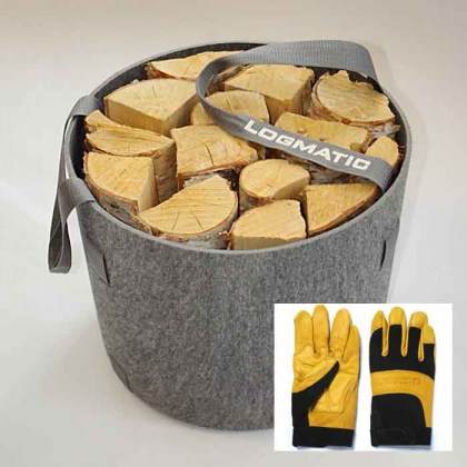 Felt Splitting Basket & Gloves